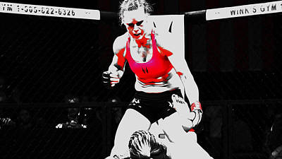 Holly Holm 6c Art Print by Brian Reaves