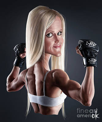 Digital Art - Holly Holm by Andre Koekemoer