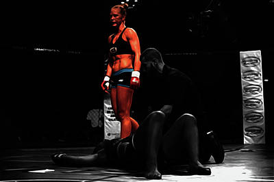 Holly Holm Another One Down Art Print