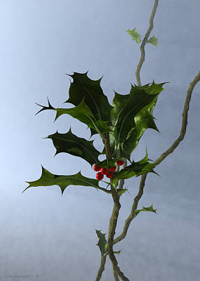 3d Digital Art - Holly by Jules Gompertz