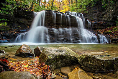Photograph - Holly River Upper Waterfall by Andy Crawford