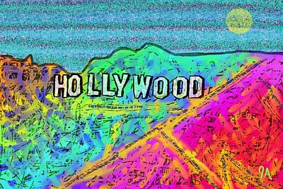 Painting - Hollycolorwood by Jeremy Aiyadurai