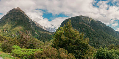 World Heritage Photograph - Hollyford Valley New Zealand Panorama by Joan Carroll