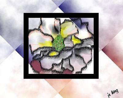 Stamen Digital Art - Hollyhock 1 Upgrade by Jacquie King