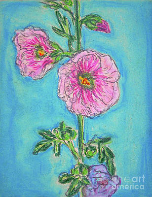 Drawing - Hollyhock by Gerhardt Isringhaus
