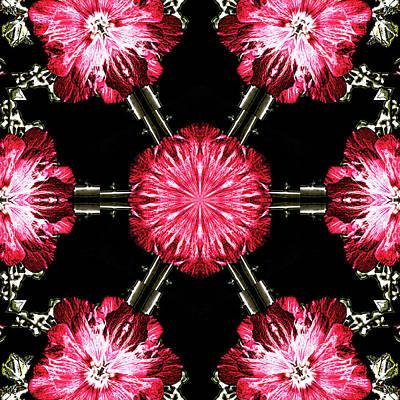 Digital Art - Hollyhock Pinwheel by Aliceann Carlton