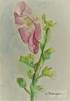 Painting - Hollyhock The Harbinger Of Summer by Laurie Morgan