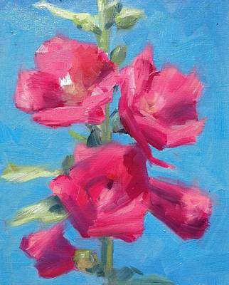 Painting - Hollyhocks by Elizabeth Jose