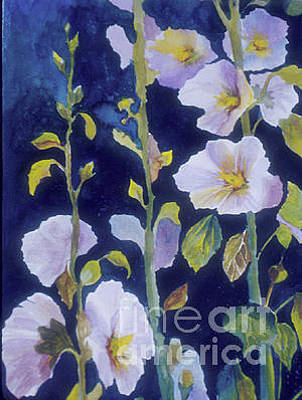 Painting - Hollyhocks by Pati Pelz