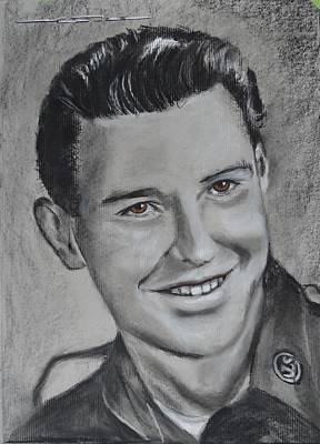 Drawing - Duane 'red' Loban by Eric Dee