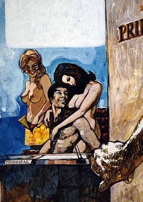 Kenyon Painting - Hollys Harem by Dennis Naumick