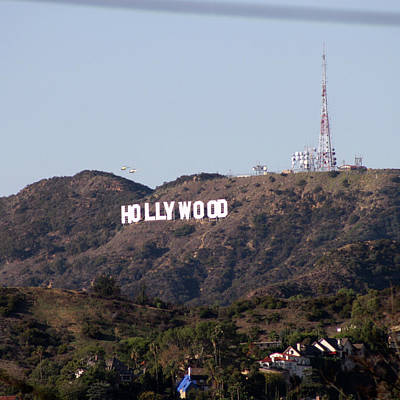 Hollywood And Helicopters Art Print