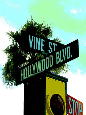 Hollywood And Vine Art Print by Audrey Venute