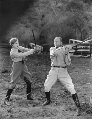 Two People Holding Hands Photograph - Hollywood Battles by Underwood Archives