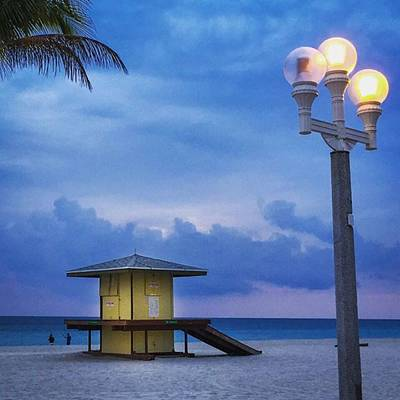 Hollywood Photograph - Hollywood Beach Blues #juansilvaphotos by Juan Silva