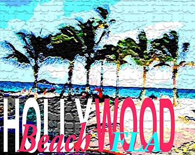 Photograph - Hollywood Beach Fla Poster by Dick Sauer