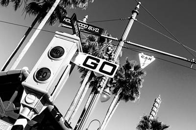 Hollywood Blvd Bw Art Print