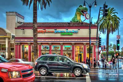 Photograph - Hollywood Blvd Rainy Day by David Zanzinger