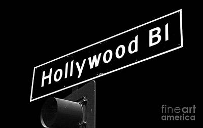 Photograph - Hollywood Boulevard Sign by John Rizzuto