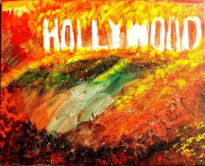 Painting - Hollywood Burning by Tornado Thien