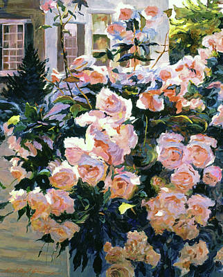 Painting -  Hollywood Cottage Garden Roses by David Lloyd Glover