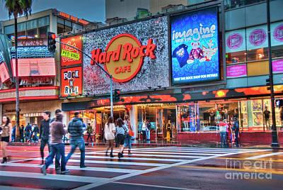 Photograph - Hollywood Hard Rock Cafe by David Zanzinger