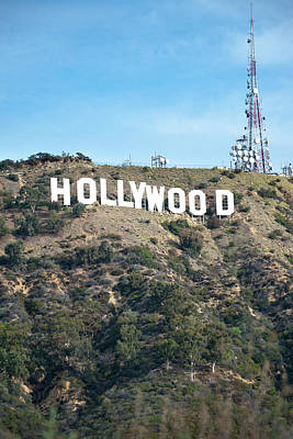 Photograph - Hollywood Hills Sign Vertical Color - Los Angeles California by Gregory Ballos