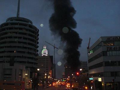 Hollywood Is Burning Art Print by Roman Lezo