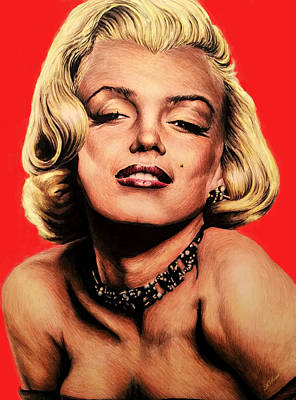 Gentlemen Prefer Blondes Painting - Hollywood Legend Marilyn by Andrew Read