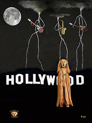Mixed Media - Hollywood Music Tour La by Eric Kempson
