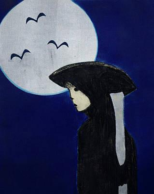 Hollywood Night Art Print by Cherie M Redlinger