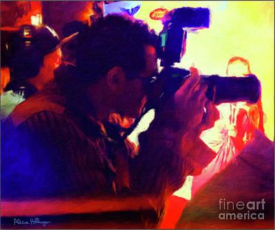 Digital Art - Hollywood Paparazzi by Alicia Hollinger