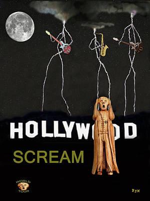 Mixed Media - Hollywood Scream by Eric Kempson