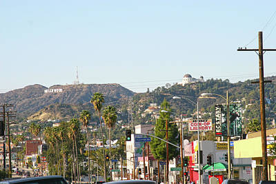 Photograph - Hollywood Sign Above Sunset Blvd. by Ken Wood