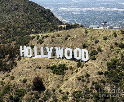 Hollywood Sign Art Print by Mindy Sommers