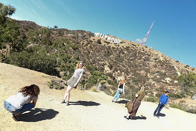 Photograph - Hollywood Sign Photo Shoot by Kathleen McGinley