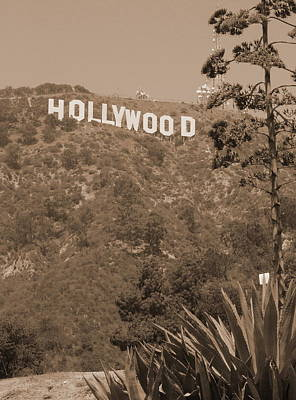 Photograph - Hollywood Signage by Richard Omura