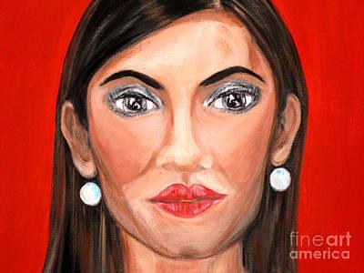 Painting - Hollywood Star. Portrait by Oksana Semenchenko