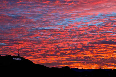 Photograph - Hollywood Sunrise by Kim Wilson