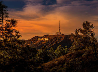 Hollywood Sunset Art Print