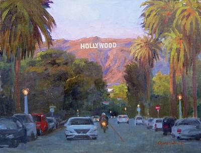 Painting - Hollywood Sunset by Sharon Weaver