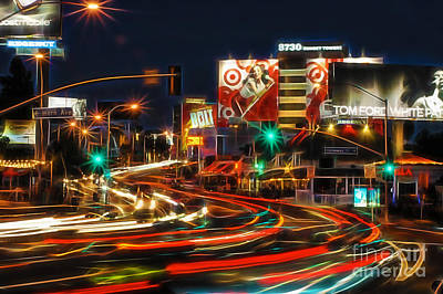 Mixed Media - Hollywood Sunset Strip by Marvin Blaine
