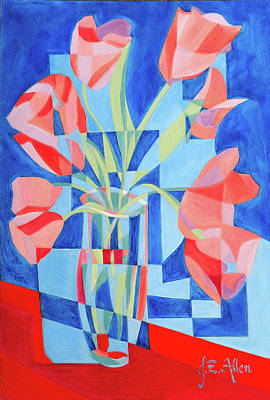 Mosaicism Painting - Hollywood Tulips by Joseph Edward Allen