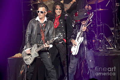 Photograph - Hollywood Vampires Depp Cooper Perry by Concert Photos
