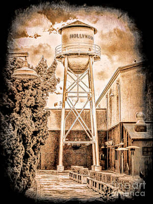 Photograph - Hollywood Water Tower by Joe Lach