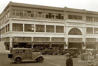 Photograph - Holman Department Store, Lighthouse Avenue Circa 1930 by California Views Mr Pat Hathaway Archives