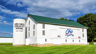 Photograph - Holmes County Home - Ohio Bicentennial Barn #47 by Stephen Stookey