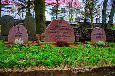 Photograph - Holvallagardur Cemetery Reykjavik 10 by Deborah Smolinske