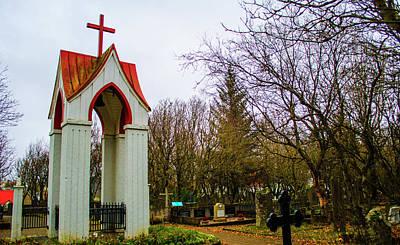 Photograph - Holvallagardur Cemetery Reykjavik 11 by Deborah Smolinske