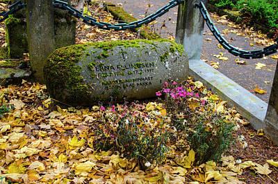 Photograph - Holvallagardur Cemetery Reykjavik 5 by Deborah Smolinske